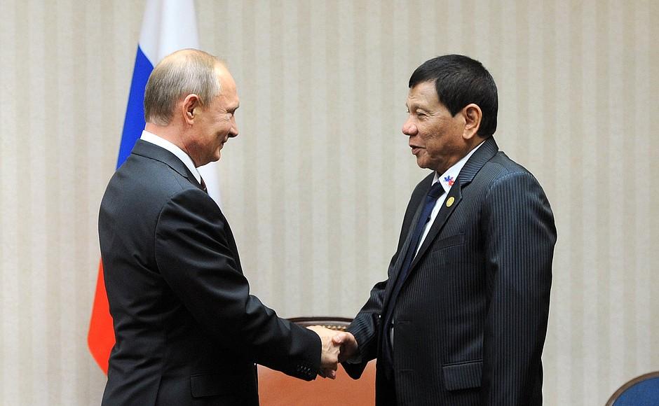 Россия готова развивать военные связи с Филиппинами