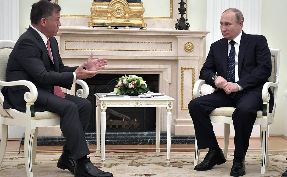 Владимир Путин провёл встречу с Королём Иордании Абдаллой II