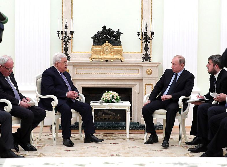 Переговоры с Президентом Палестины Махмудом Аббасом