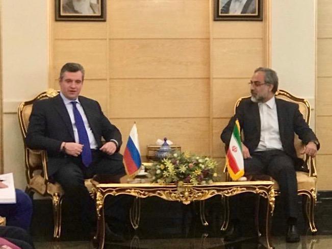 Делегация комитета Госдумы по международным делам во главе с Леонидом Слуцким прибыла в Тегеран