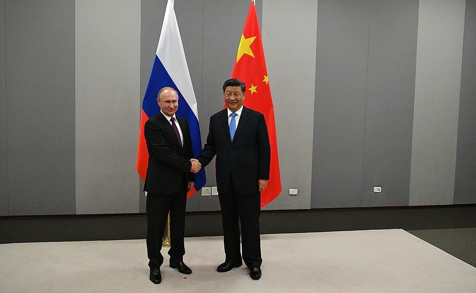 Владимир Путин встретился с Председателем Китайской Народной Республики Си Цзиньпином