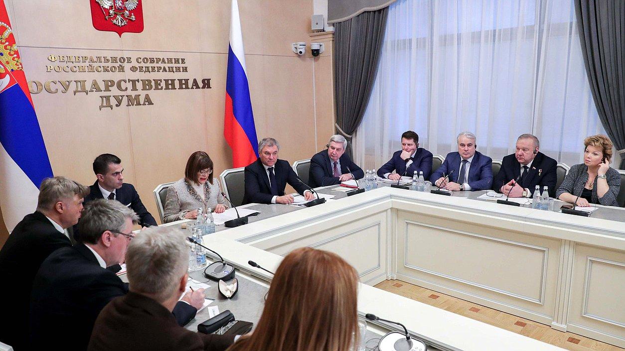 Вячеслав Володин предложил создать международный институт защиты исторической памяти