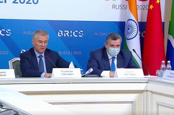 Леонид Слуцкий: «Парламентский форум БРИКС был проведён в формате видеоконференцсвязи, но от этого не стал менее результативным и знаковым»