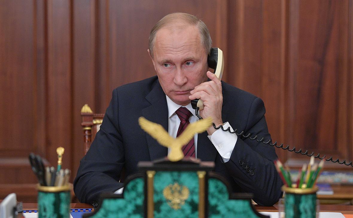 Телефонный разговор Владимира Путина с канцлером Германии Ангелой Меркель