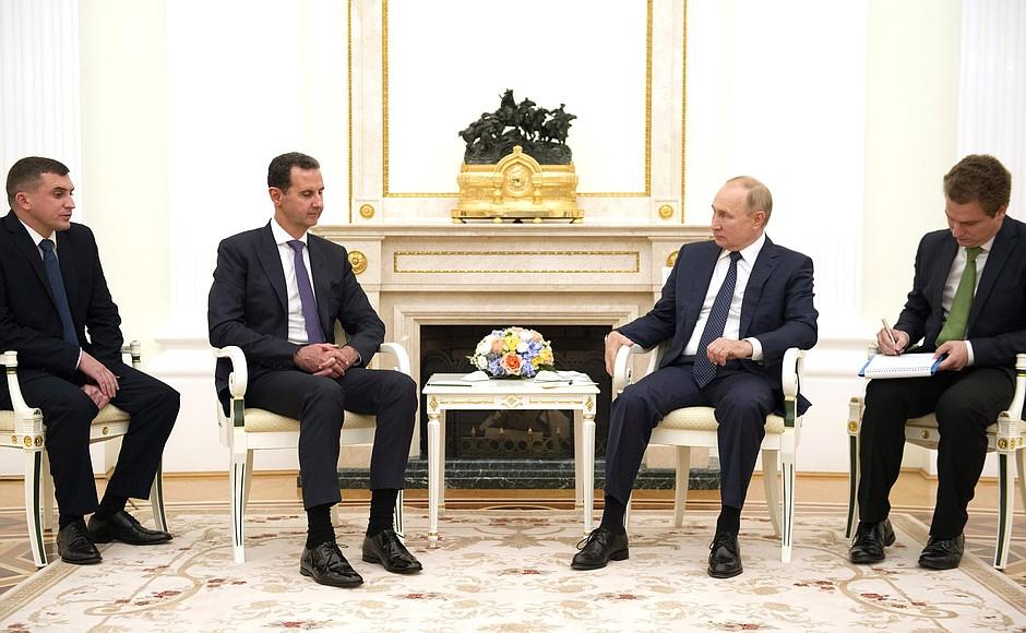 Состоялась встреча Владимира Путина с Президентом Сирийской Арабской Республики Башаром Асадом
